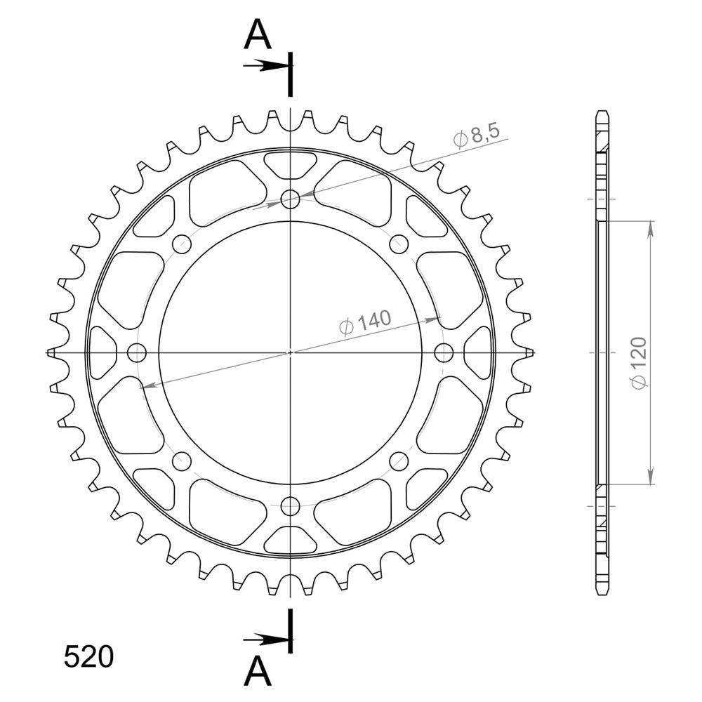 Supersprox / JT Rear sprocket 487.46