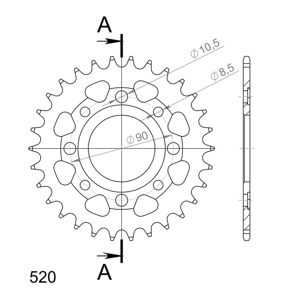 Supersprox / JT Rear sprocket 279.31
