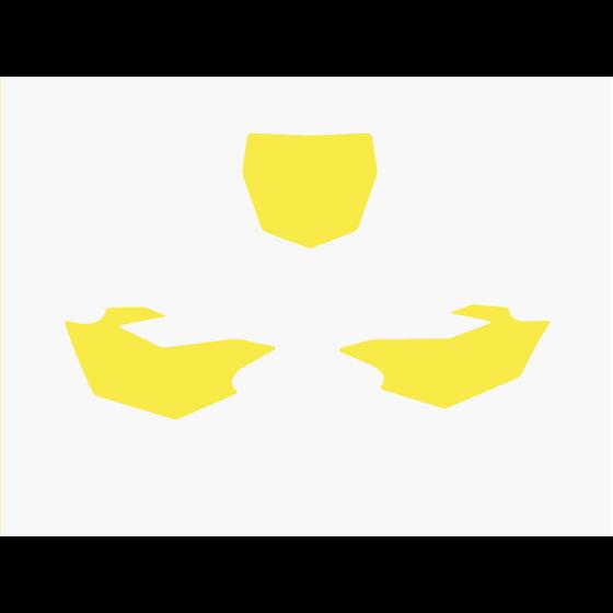Blackbird Pre Cut Backgrounds yellow YZF250/450 14-16