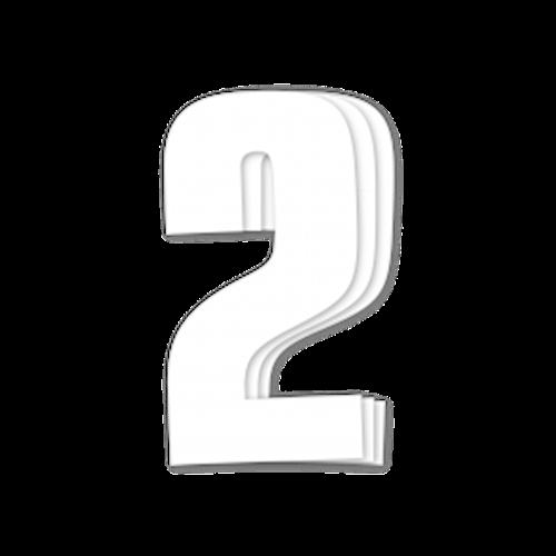 Blackbird Race Numbers White - pack of 3 cm.16x7,5cm 2
