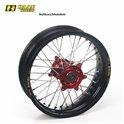 * Haan wheel SX&SXF&EXC 97-02 17-3,50 BLACK RIM/RED HUB/BLACK SPOKES/RED NIPPLES