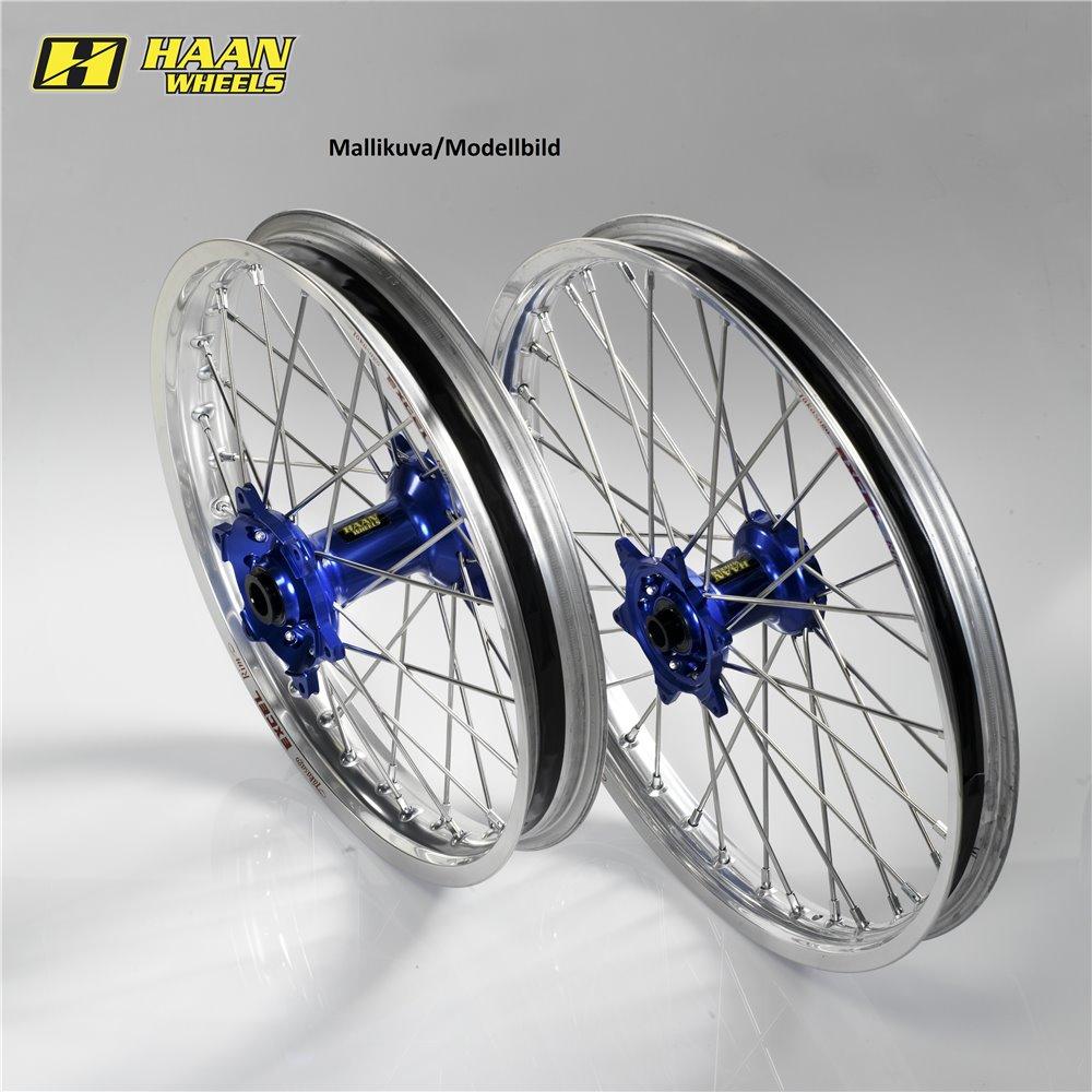 * Haan wheel SX&SXF 15-17 /EXC MODELS 16- 17-3,50 SILVER RIM/BLUE HUB