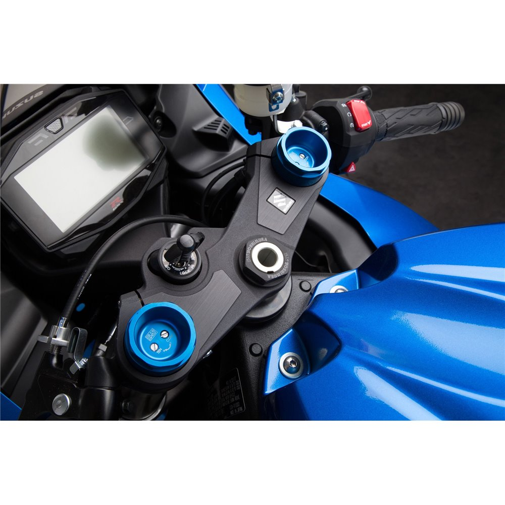 Yoshimura Suzuki Gsx-R1000 2009-20 Blue Fork Tube Extender Caps