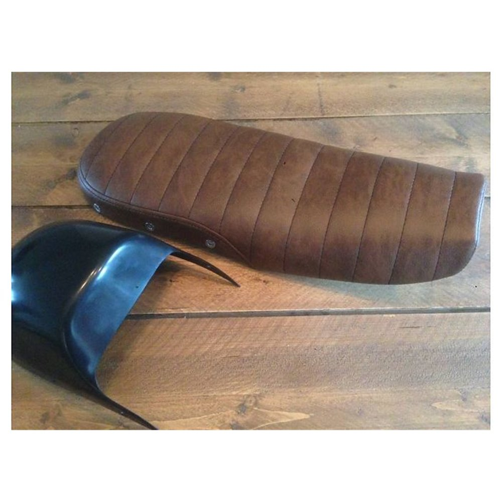 *Seat Cafe Racer Classic Tuck 'N Roll Vintage Brown ABS