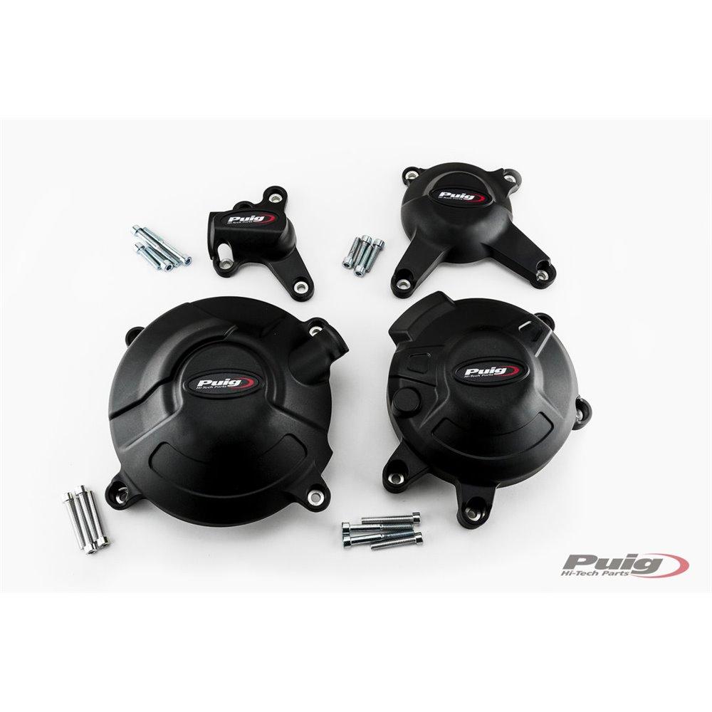 Puig Kit 3 Caps Engine Cover Yamaha Mt-09/Mt-09 Sp C/Bl