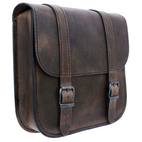 *Swingarm Bag Straight Softail Brown