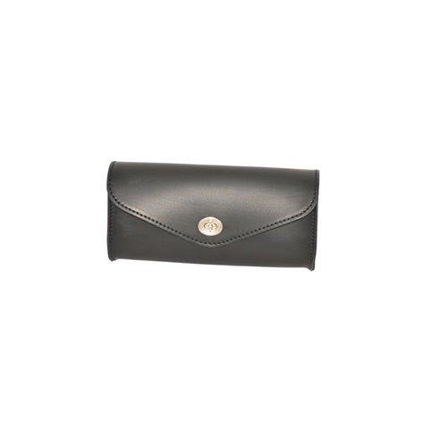 *Frontbag Black Leather