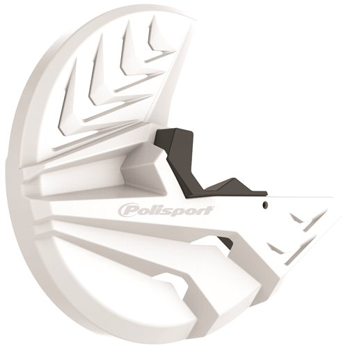 Polisport Disk w/bottom fork prot Honda CRF250/450R(15-18) white/black
