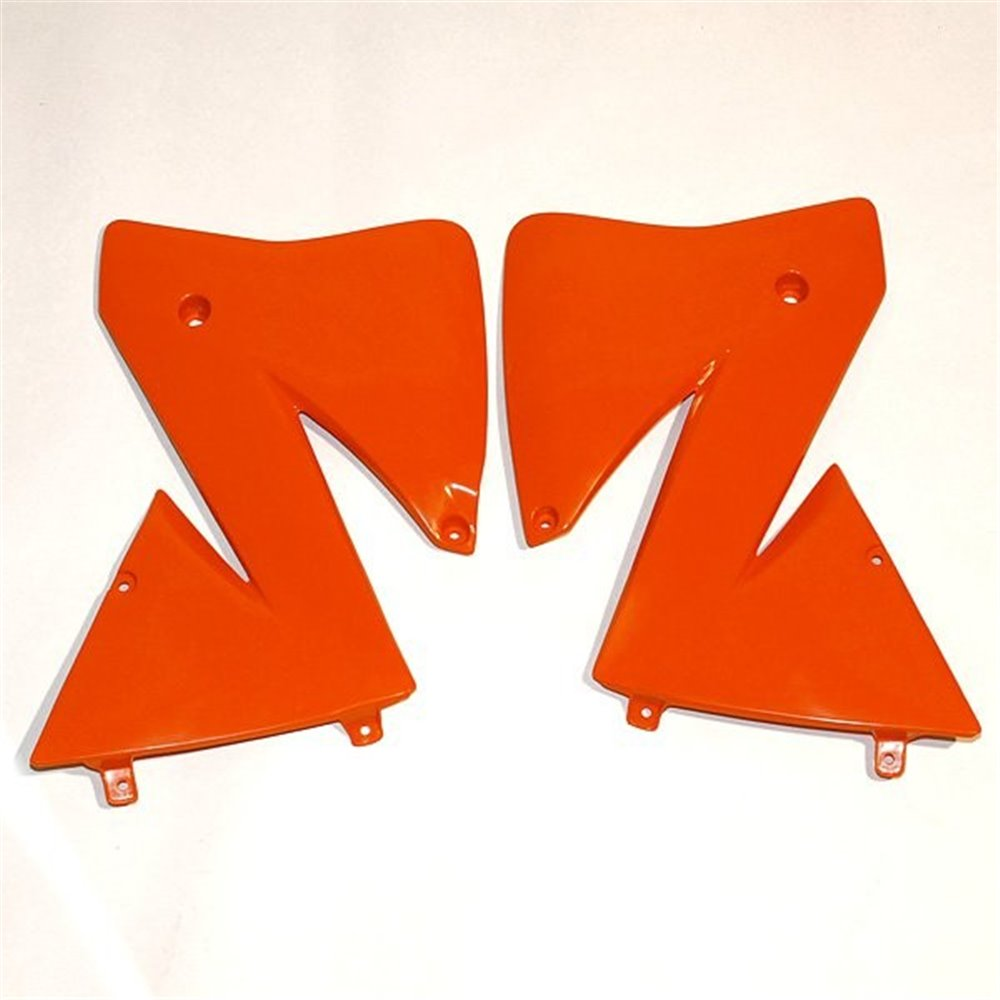 UFO Radiator shrouds KTM125-380EXC 2T,400-525 4T 02 Orange 127
