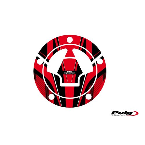 Puig Fuel Cap Cover Radical Kawasaki C/Red