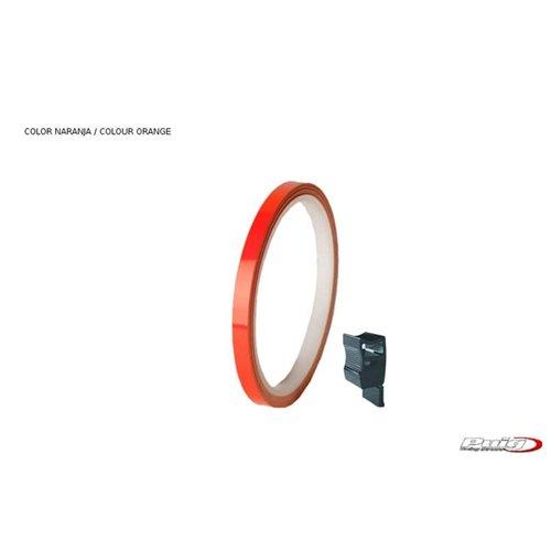 Puig Rim Strip 6 Meters+Aplicator C/Orange Fluorescent