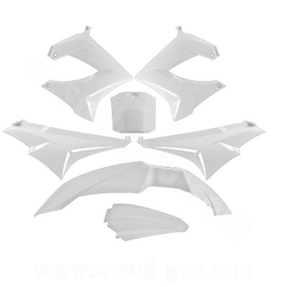 TNT Bodywork kit, White, Derbi Senda R X-Treme 03-10, SM X-Treme 02-10