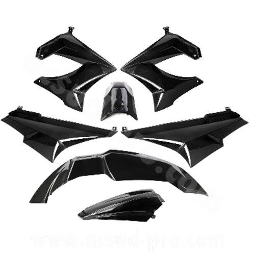 TNT Bodywork kit, Black, Derbi Senda R X-Treme 03-10, SM X-Treme 02-10