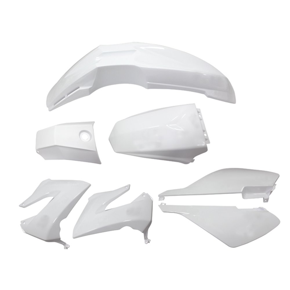 Tec-X Bodywork kit, White, Derbi Senda R X-Treme 03-10, SM X-Treme 02-10
