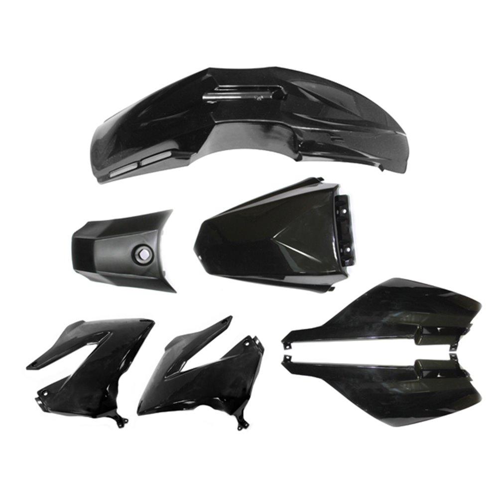 Tec-X Bodywork kit, Black, Derbi Senda R X-Treme 03-10, SM X-Treme 02-10