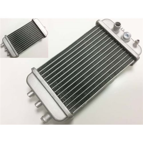 Radiator, with place for sensor, Derbi Senda / Aprilia RX, SX