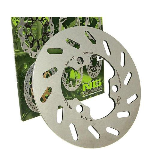 Brake disk, Rear, Outer Ø 180mm, Aprilia / Derbi / Gilera / Rieju, 50cc 6-v