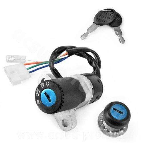Ignition switch & Lock set, Aprilia RX,SX 06- / Derbi Senda 05- / Gilera RCR,SMT