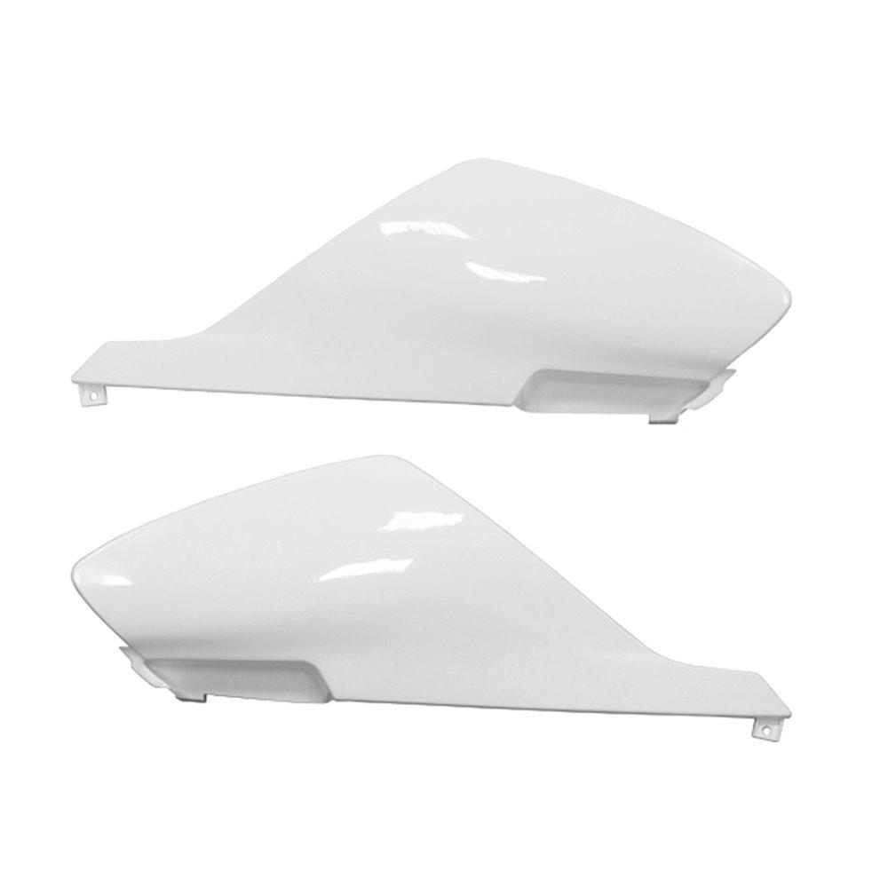 Tec-X Rear side cover kit, White, Derbi Senda R X-Treme 03-10, SM X-Treme 02-10