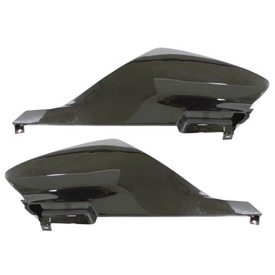 Tec-X Rear side cover kit, Black, Derbi Senda R X-Treme 03-10, SM X-Treme 02-10