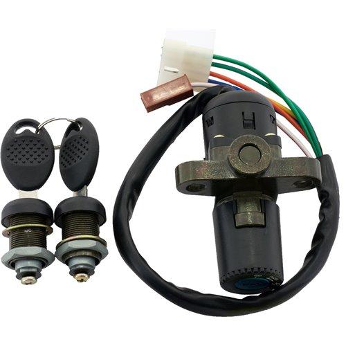 Ignition switch & Lock set, Derbi -05 / Gilera -05 / MH -12 / Rieju 98-, 50cc 6-