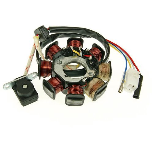 Stator, China-scooters 4-S 50cc, (2+1+1)