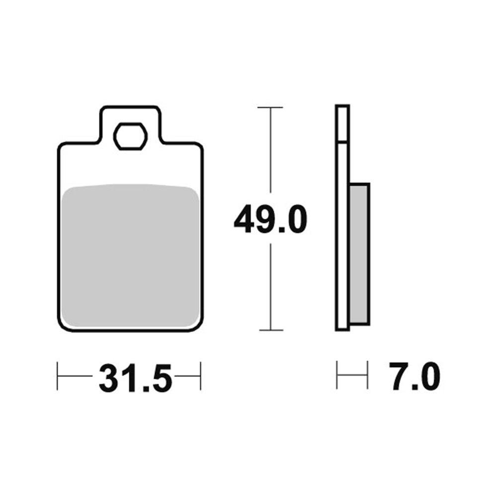 Sbs Brakepads Ceramic (712HF)