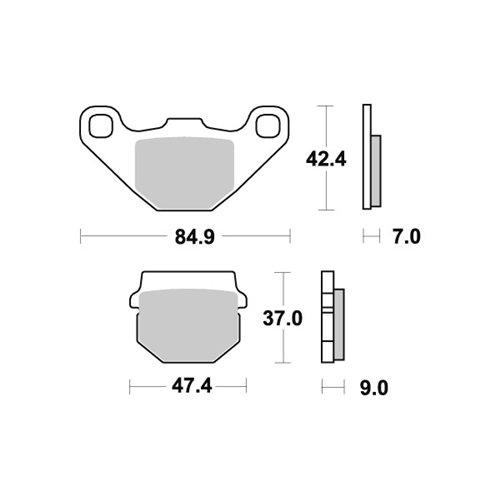 Sbs Brakepads Ceramic (544HF)