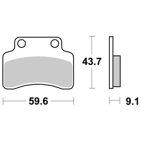 Sbs Brakepads Ceramic (723HF)