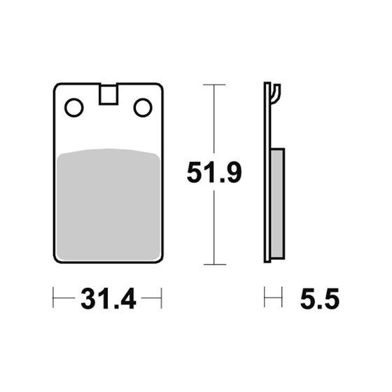Sbs Brakepads Ceramic (595HF)