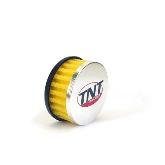 TNT Air filter, R-Box, Yellow, Connection Ø 28/35mm, (Ø 85mm l. 39mm)
