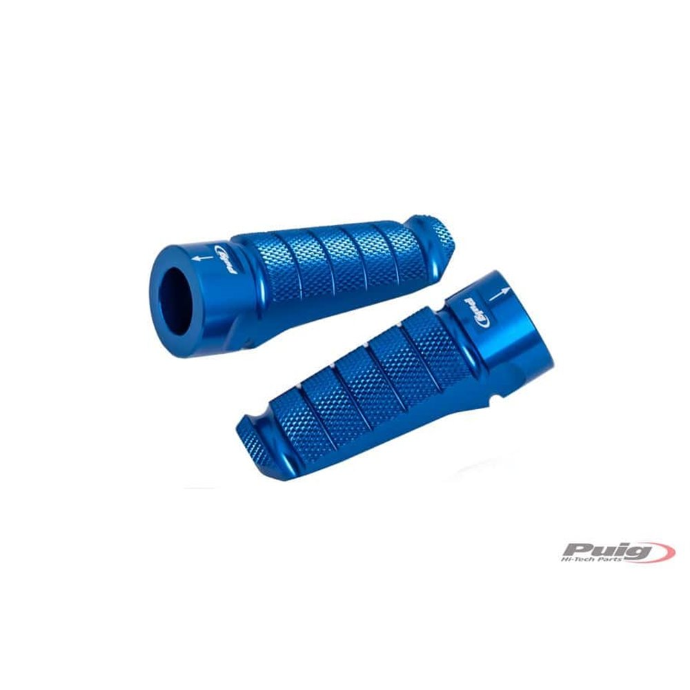 Puig Pair Footrests Hi-Tech Pilot Right/Left C/Blue
