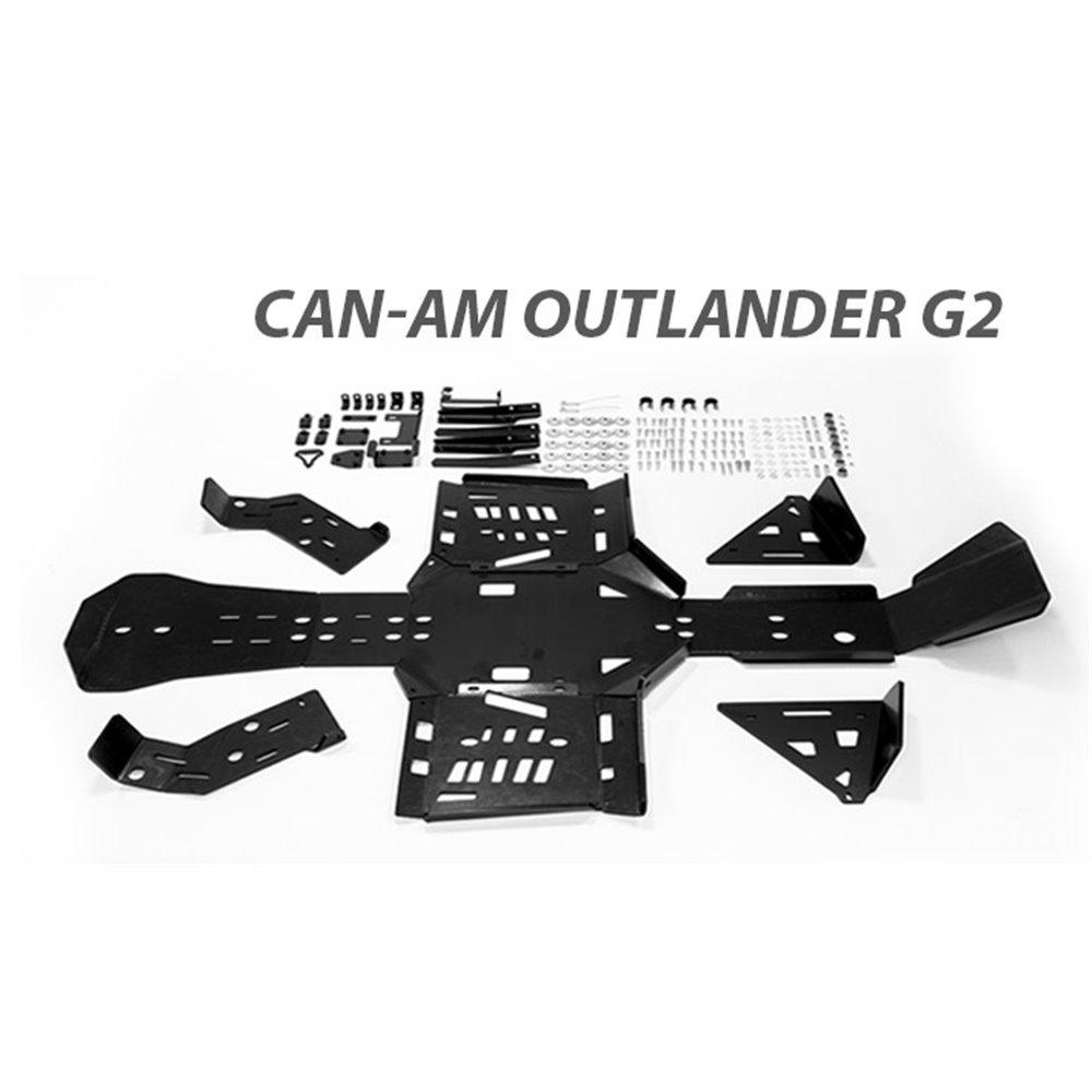 Rival plastic skid plate full set Can-AM Outlander G2 STD/MAX/XMR 2017-2018
