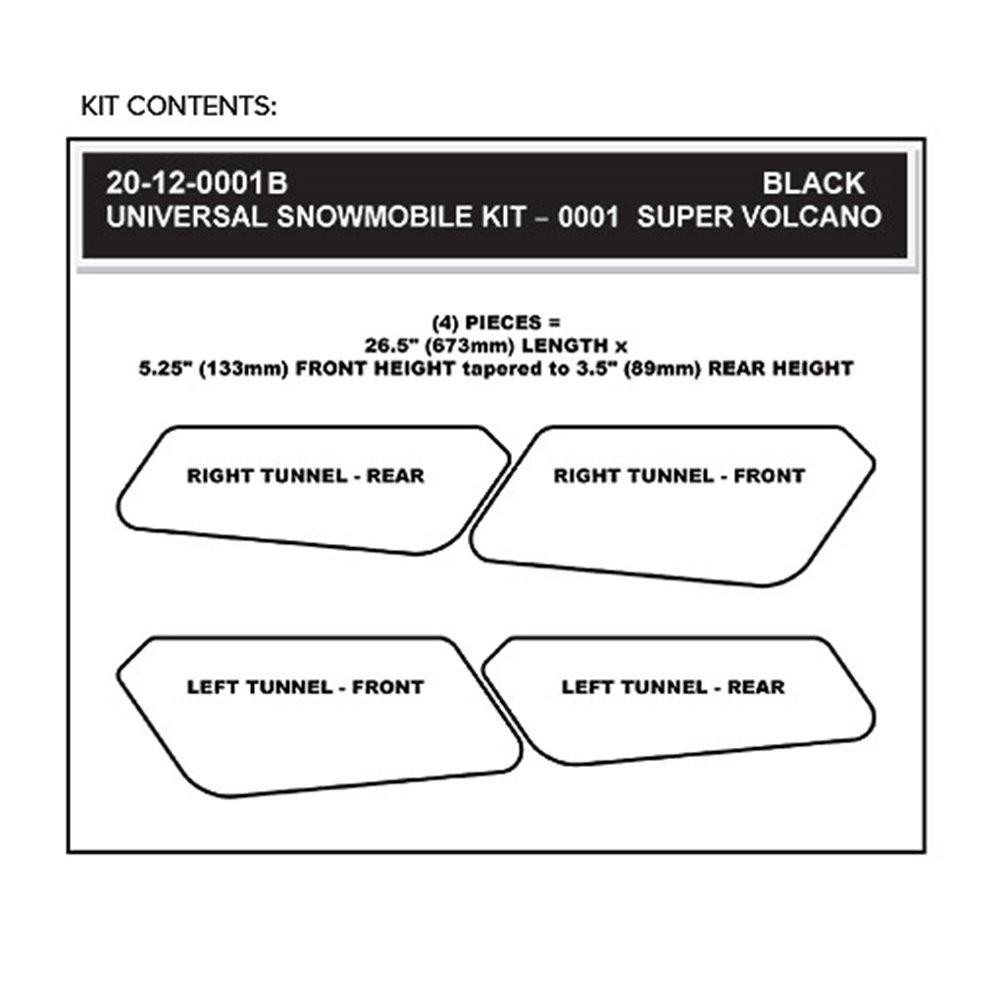 Stompgrip Snowmobile Tunnel Grip - Super Volcano : Black