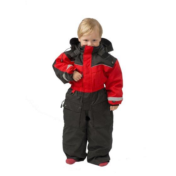 Snow People Safari coverall kids red/black 100