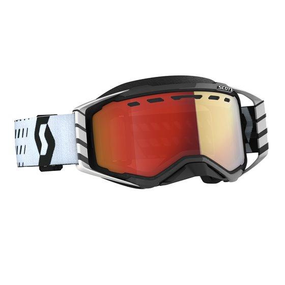 Scott Goggle Prospect Snow Cross black/white light sensitive red chrome