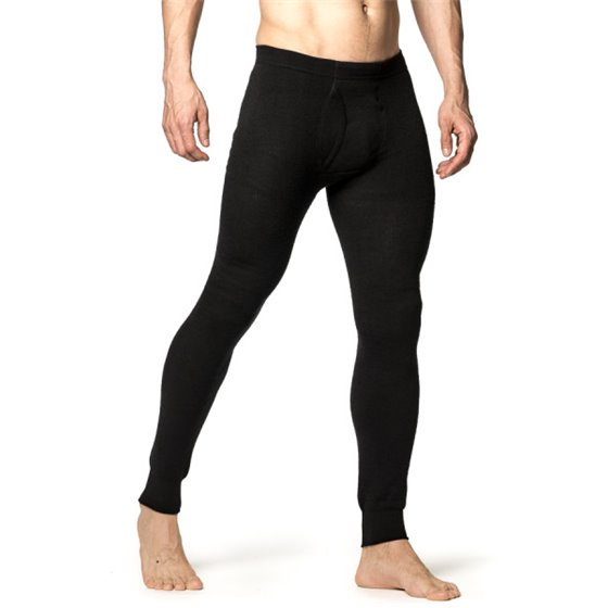 Woolpower Long Johns with Fly 200 Black S