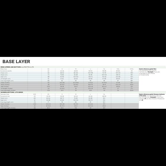 Woolpower Long john Ws Merino base layer black XS
