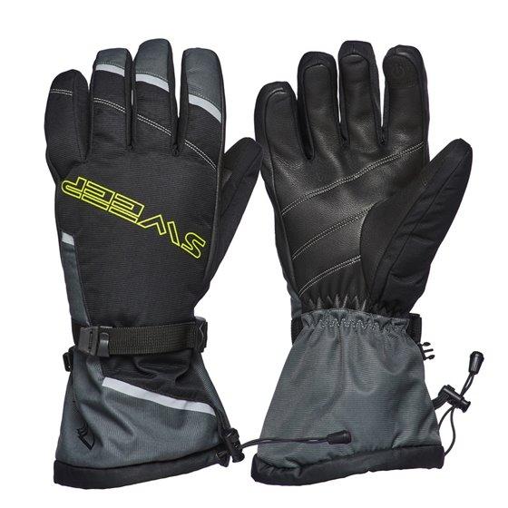 Sweep Blower glove, black/grey/yellow 2XL