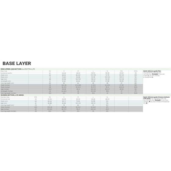 Woolpower Lady Merino boxer base layer black L