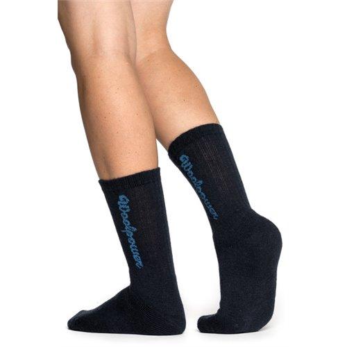 Woolpower Socks Logo 400 black 40/44