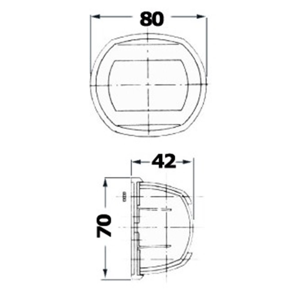 Kulkuvalo Compact 12 valkoinen - valkoinen 225°