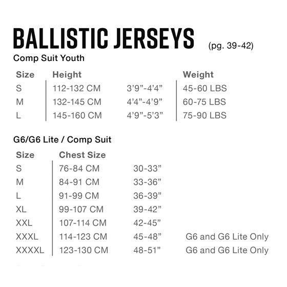 EVS G7 BALLISTIC JERSEY Black 3XL