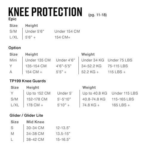 EVS Glider Knee Guard Lite S