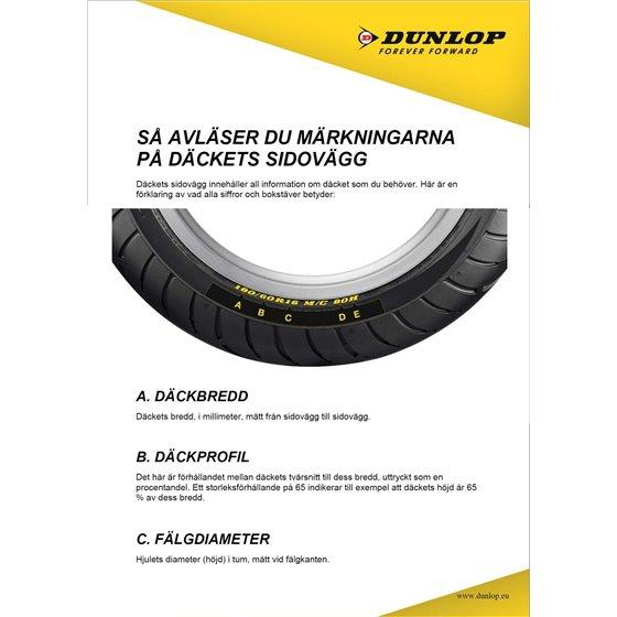 Dunlop D404 150/90B15 74H TL WWW Re. (Wide Whitewall)