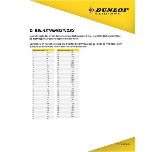 Dunlop Tube 100/90-19 , 110/80-19 TR4 (MX HD 3,5mm)