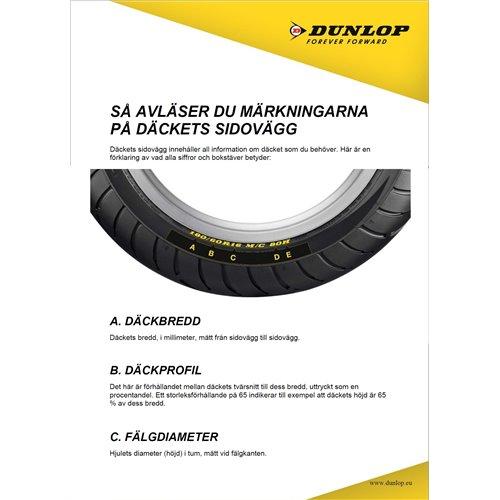 Dunlop Tube 100/90-19 , 110/80-19 TR4 (MX 2,5mm)
