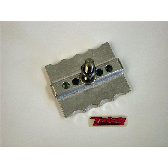 *CNC Rim lock WM2 1.85 polished aluminium