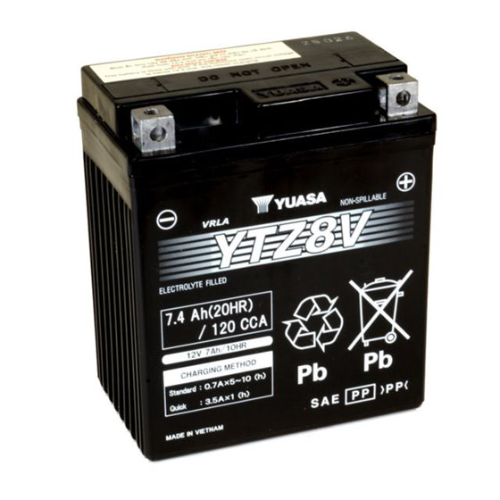 Yuasa battery, YTZ8V (wc)