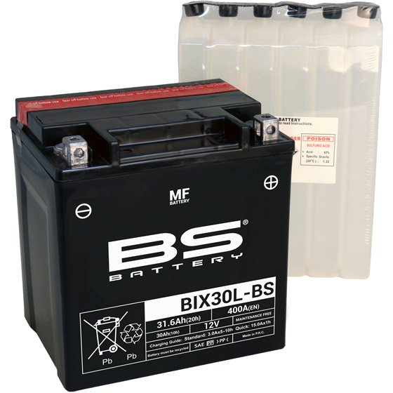 BS Battery  BIX30L-BS MF (cp) Maintenance Free